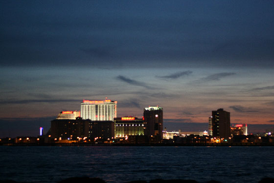 Atlantic City Casinos as seen form the Brigantine jetty at night
