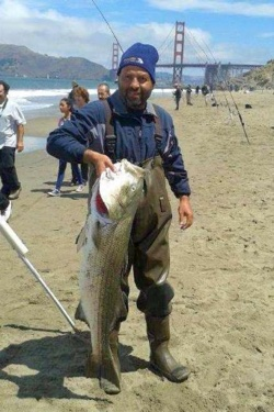 Surf Fishing For Striped Bass In California