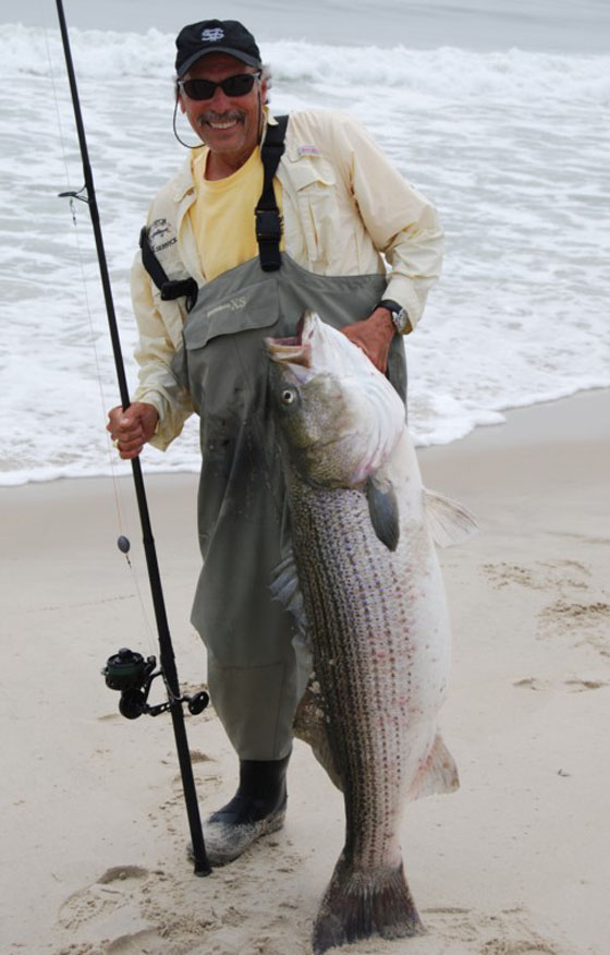 Shell E Caris' 51 Pound Striper