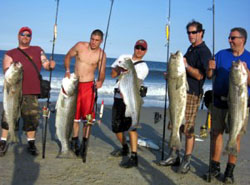 Fishing for striped bass in the spring for Jersey shore fishing